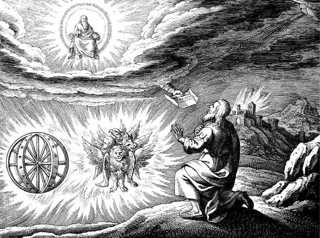 Ezékiel és a kerubok (forrás: Wikipedia)