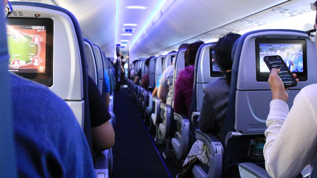 Egy repülőgép belseje. Képünk csupán illusztráció (fotó: Pixabay)