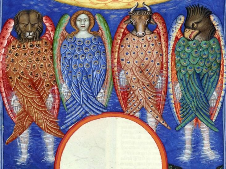 A Lelkes Állatok a Jelenések könyve szerint (forrás: citycentrechurch.org)