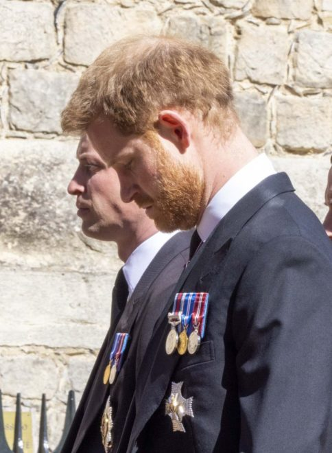 Vilmos herceg és Harry herceg Fülöp herceg temetésén