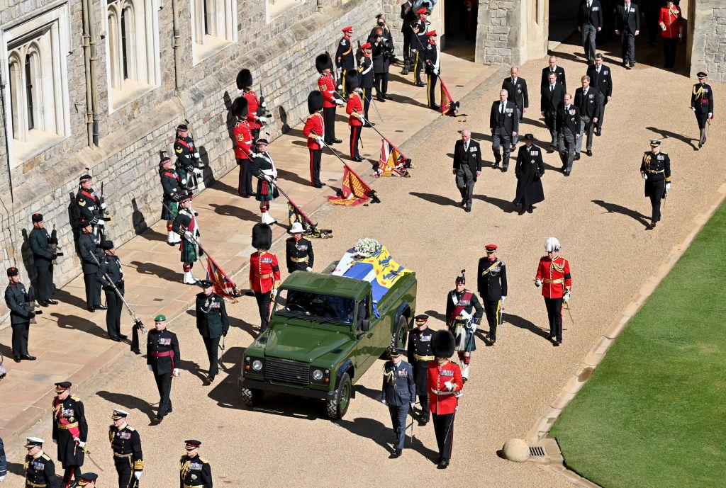 Fülöp herceg temetése gyászmenet