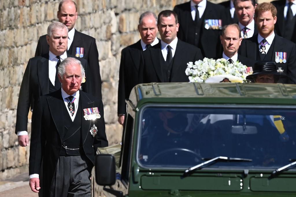 Gyászmenet Fülöp herceg temetésén