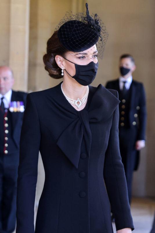 Katalin hercegnő Fülöp herceg temetésén