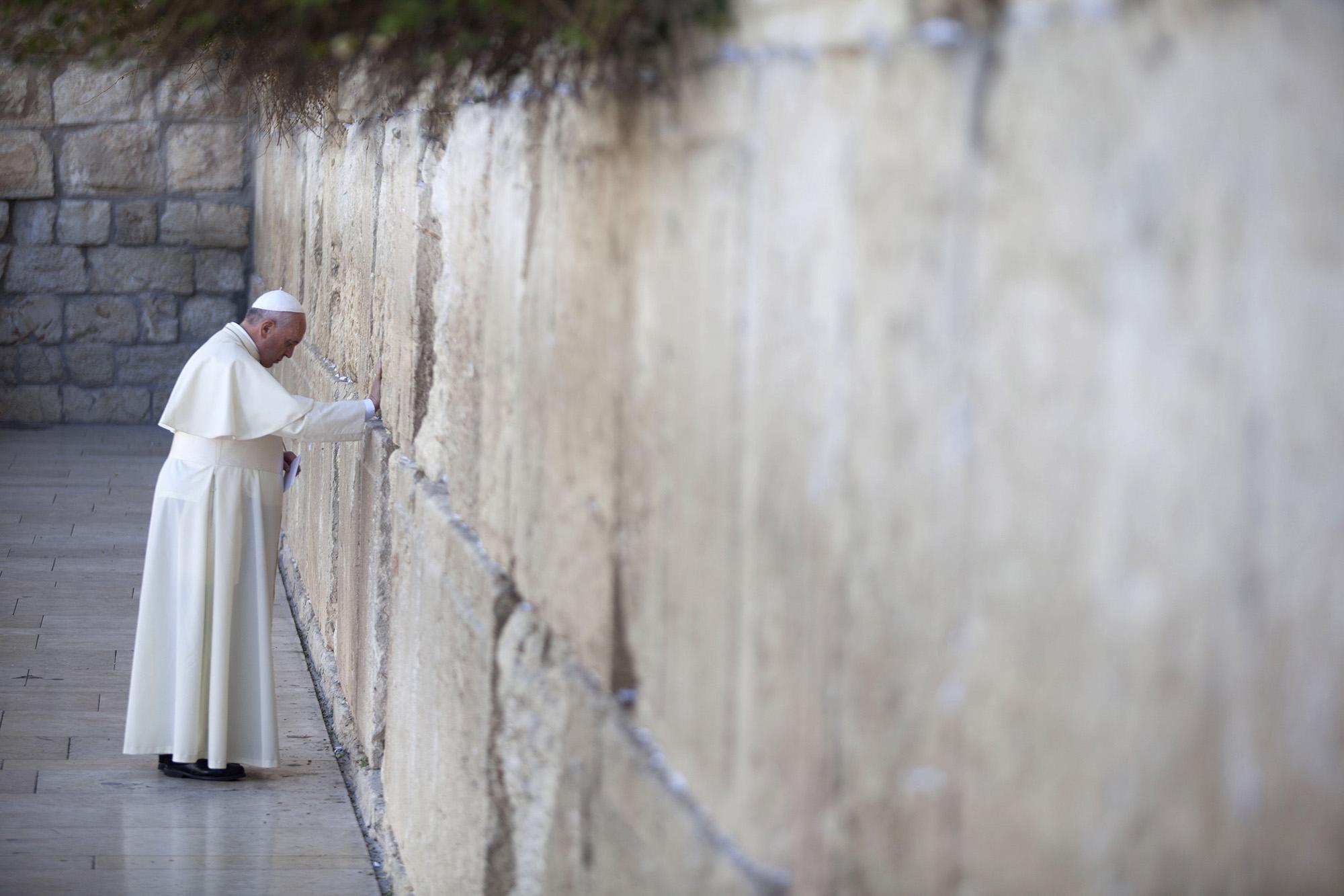Ferenc pápa Jeruzsálemben