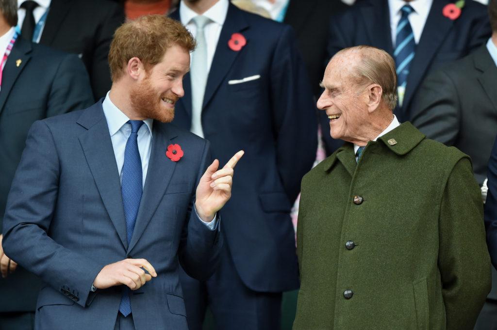 Fülöp herceg és unokája Harry herceg