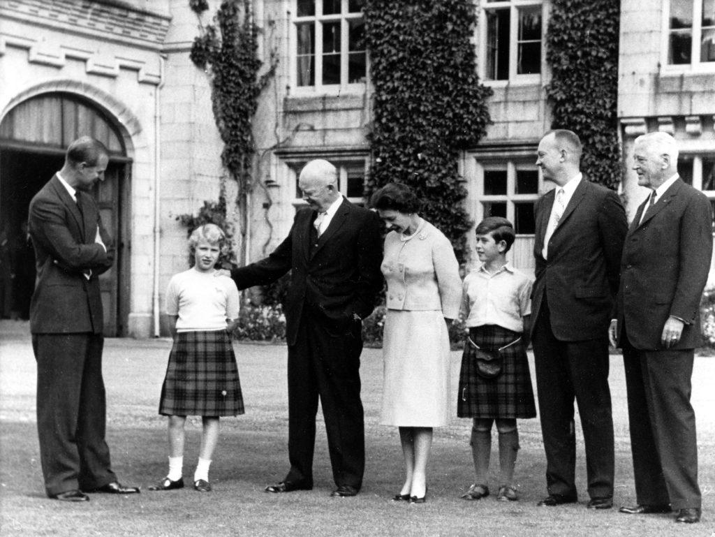 A királyi család és Eisenhower elnök