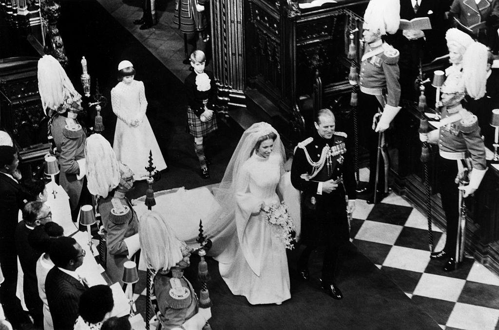 Anna hercegnő és Fülöp herceg és hercegnő esküvőjén