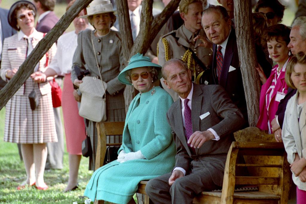 Fülöp herceg és II Erzsébet Bugacon