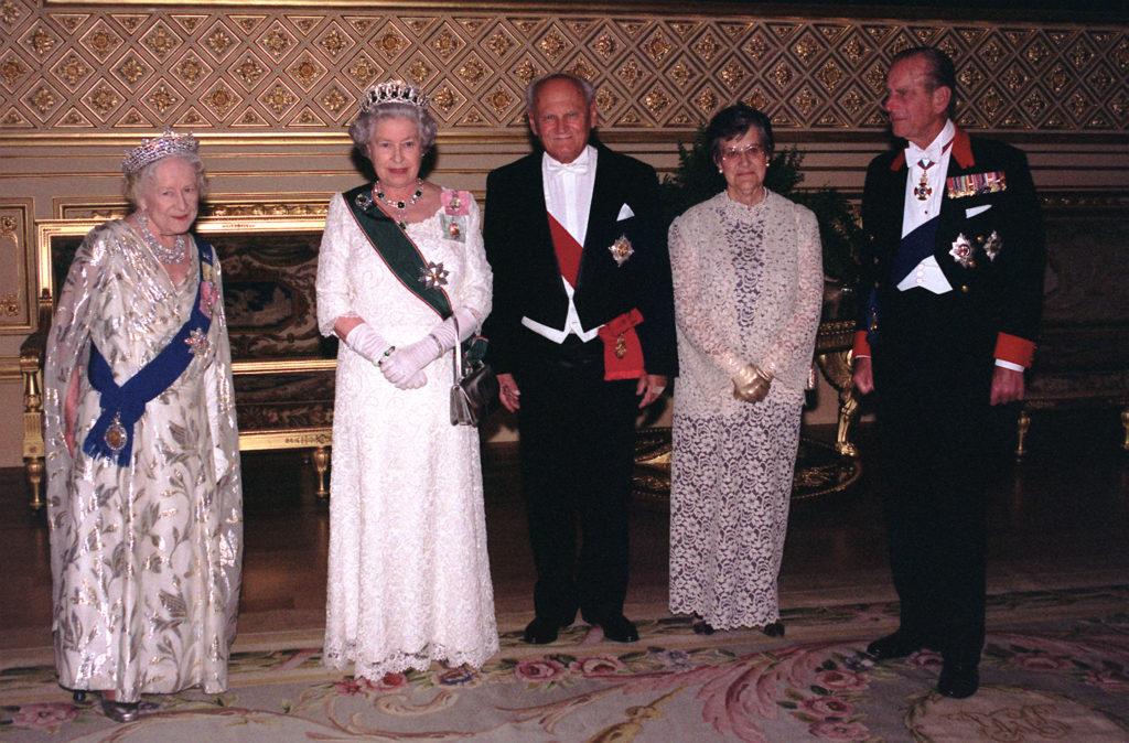 Göncz Árpád, II. Erzsébet, Fülöp herceg Windsorban