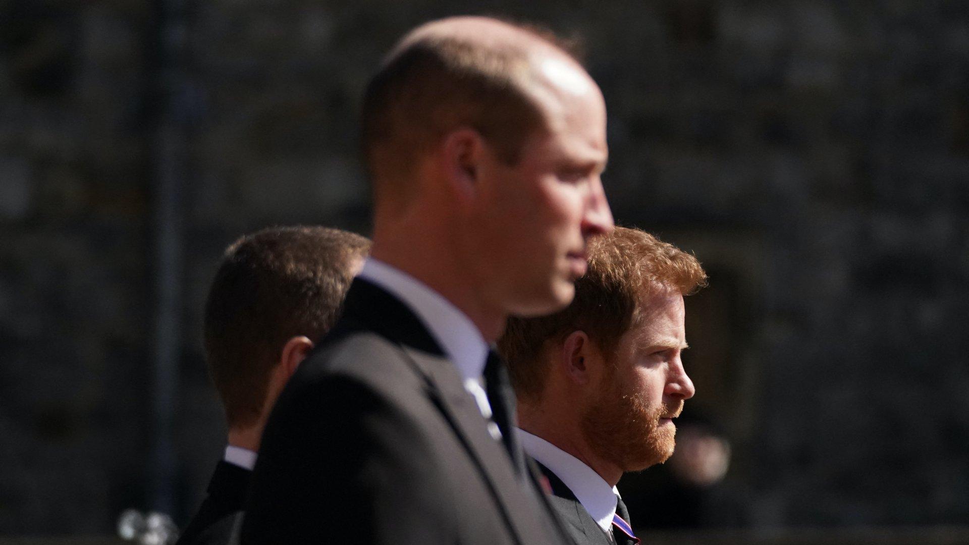 Harry herceg és Vilmos herceg Fülöp herceg temetésén