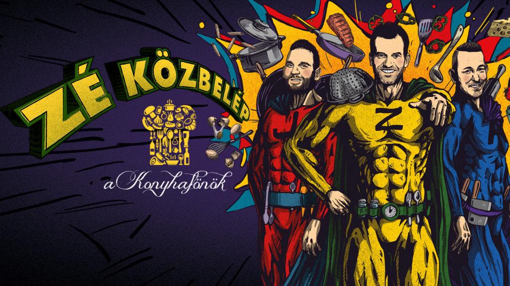 A Konyhafőnökben idén már nem csak Rácz Jenő és Sárközi Ákos versenyeznek - Fördős Zé is csapatot kap, ő lesz a sárgák vezetője
