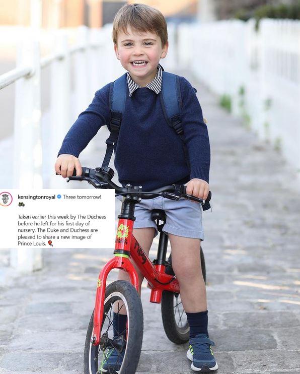 Lajos herceg biciklivel indult az első óvodai napjára