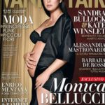 Monica Bellucci több különböző címlapon szerepelt várandósan, volt, ahol ennél is kevesebb ruha takarta