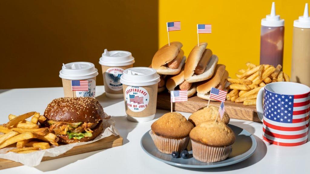 halóriadús ételek, hamburger, muffin