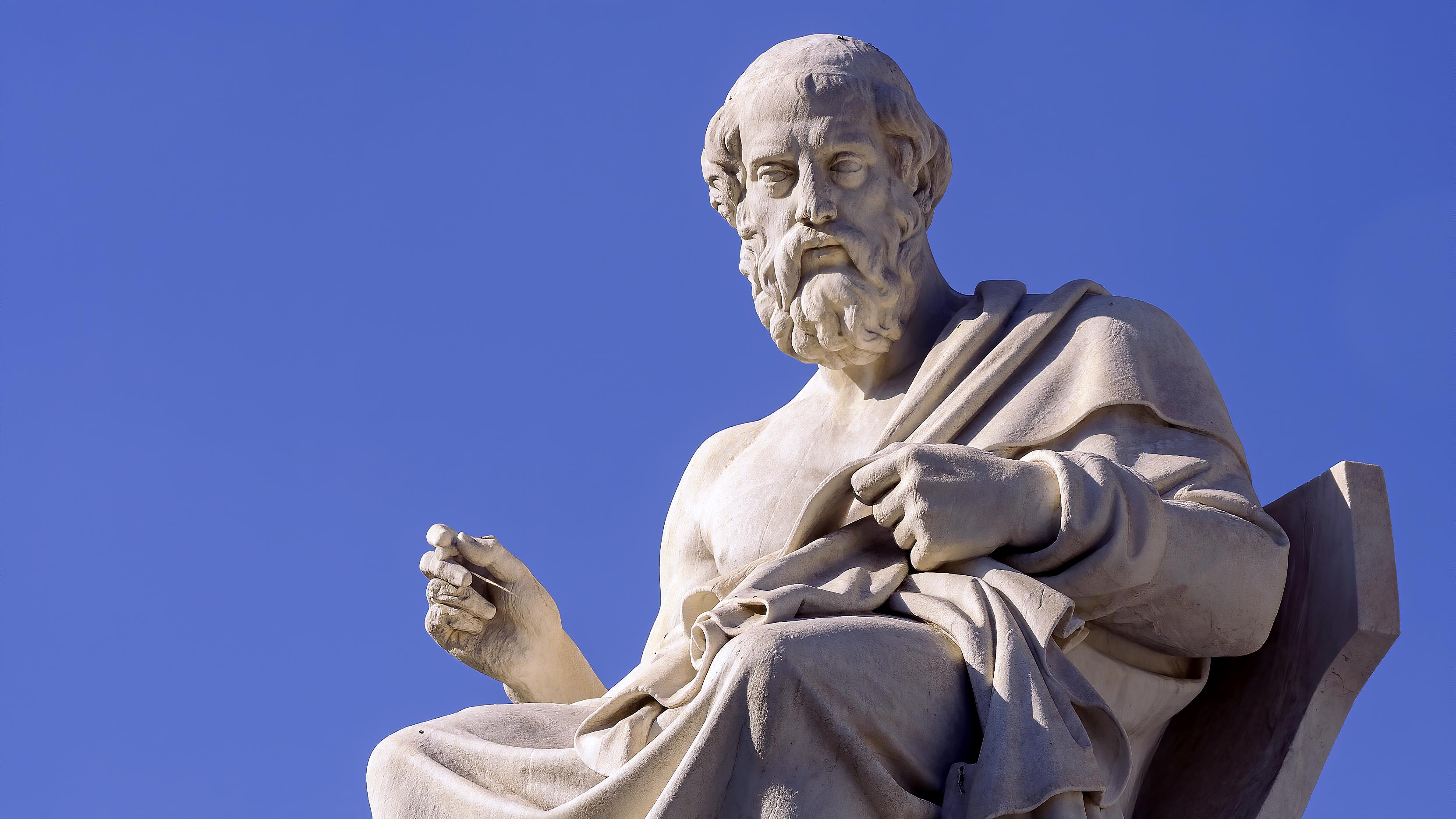 Platón szobra (fotó: worldhistory.org)
