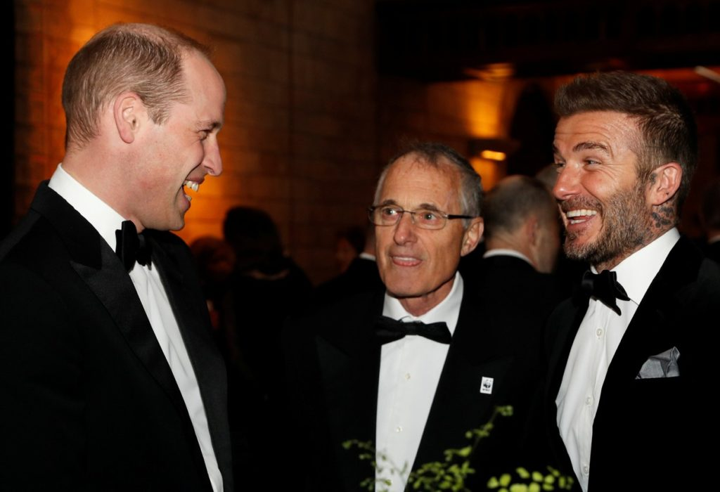 Vilmos herceg sé David Beckham