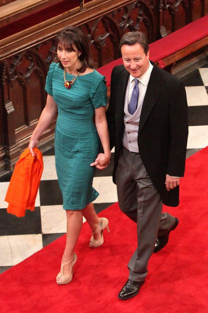 David Cameron Vilmos herceg esküvőjén