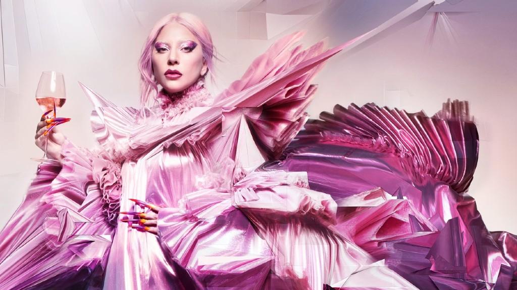 Lady Gaga egy pezsgőmárka arcaként (fotó: Profimédia)