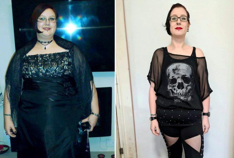 Su Morgan a fogyás előtt és után (Fotó: Profimedia)