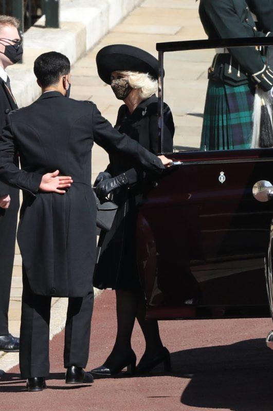 Kamilla hercegnő Fülöp herceg temetésén