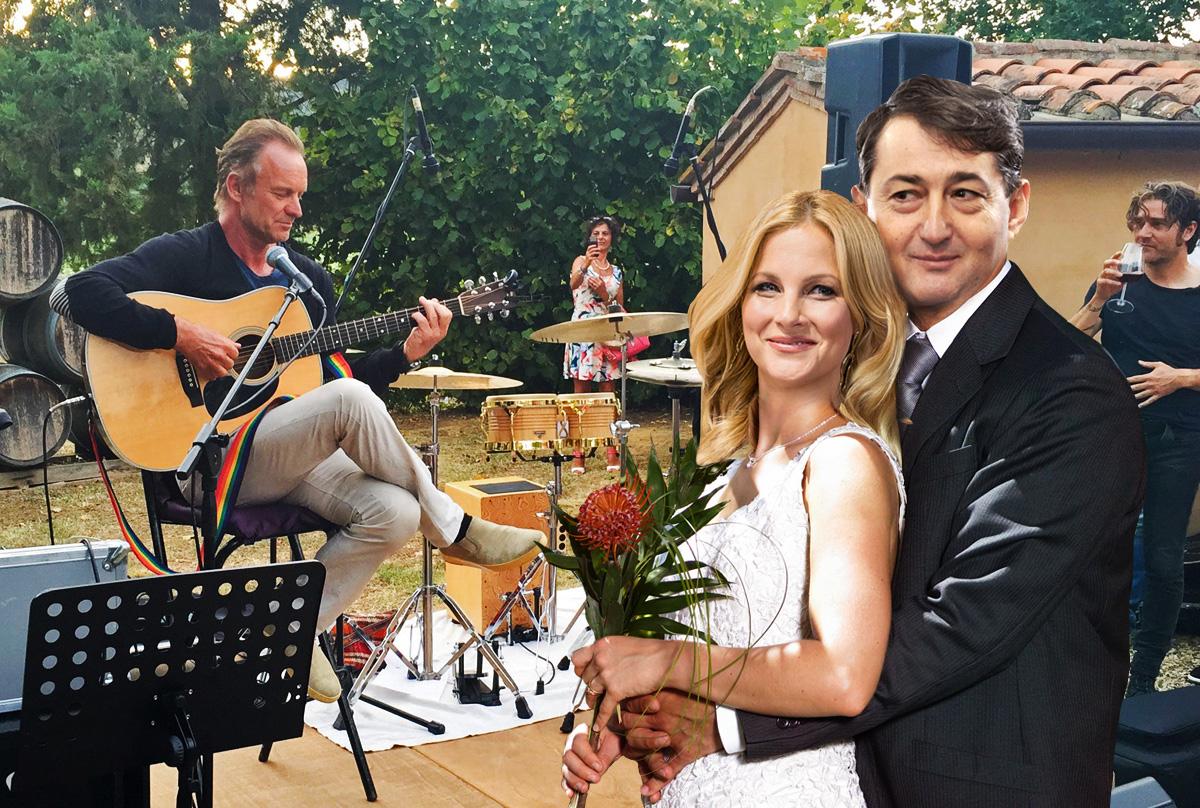 Sting zenél az esküvőn (Fotó: nlc illusztráció)