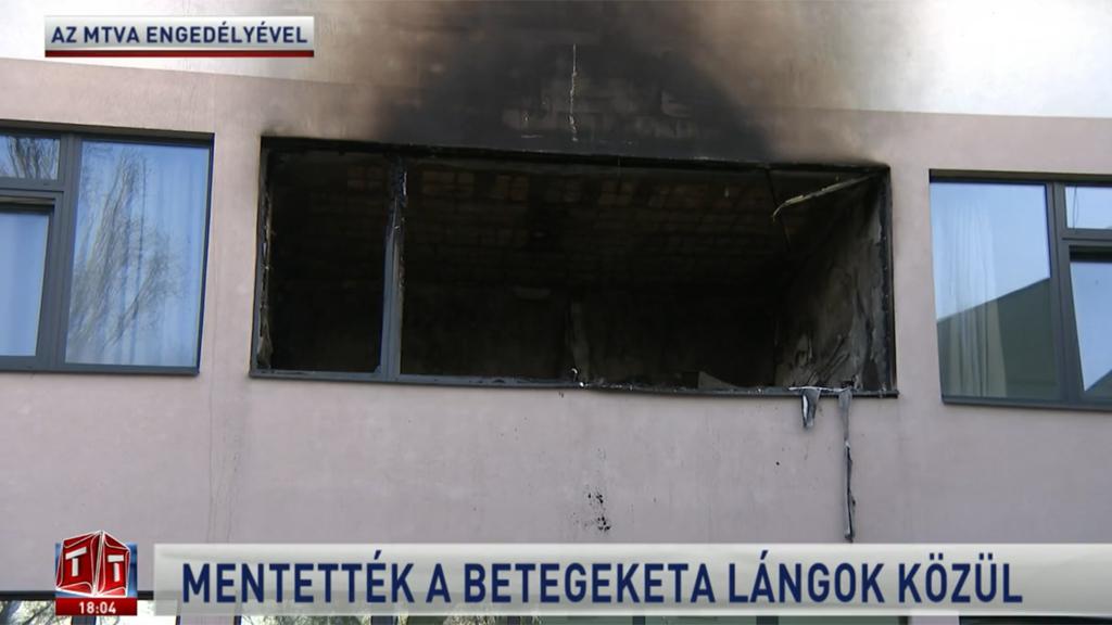 Covid-osztályon fekvő beteg dohányzása okozta a tüzet a hatvani kórházban