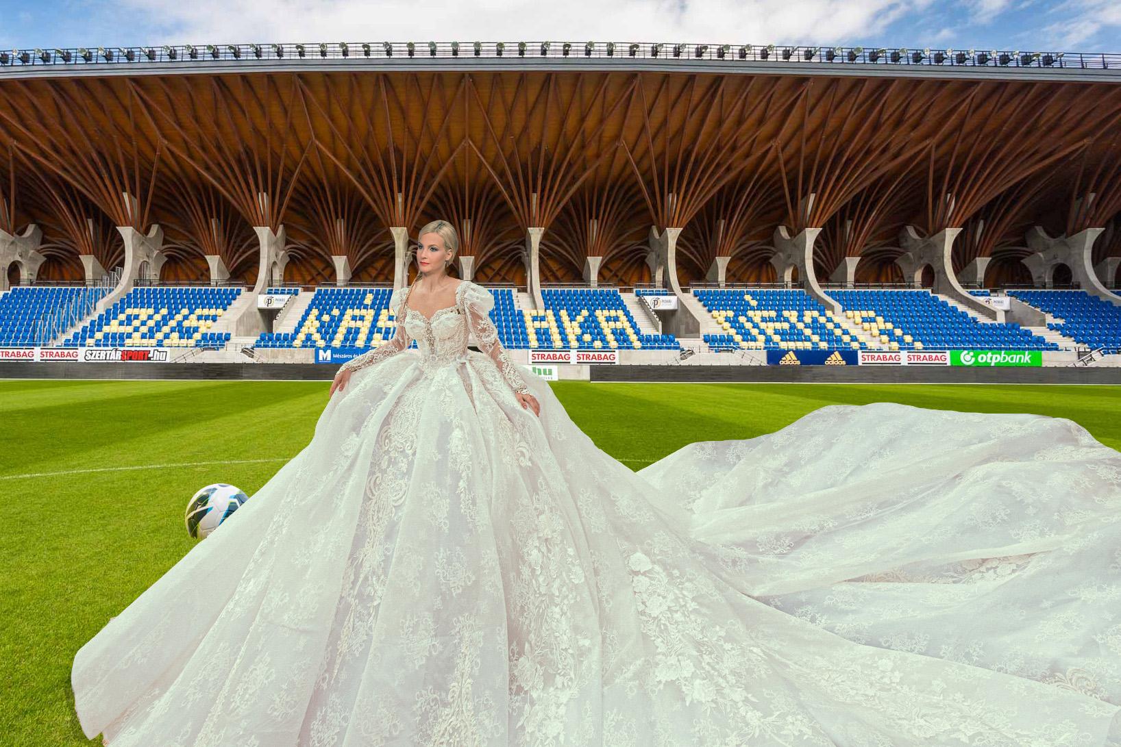 Futball menyasszony (Fotó: nlc illusztráció)