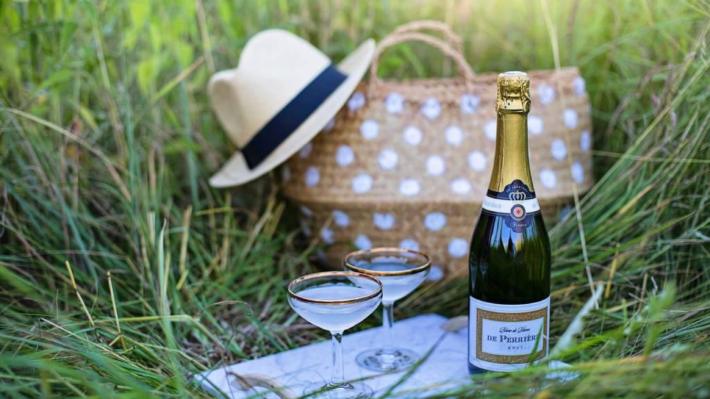 piknik pezsgővel