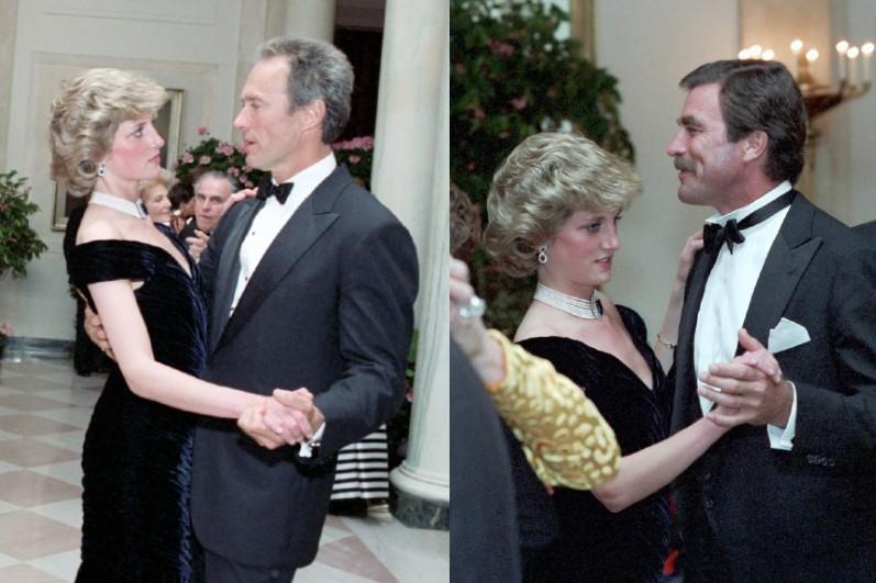 Diana hercegnő, Clint Eastwood és Tom Selleck