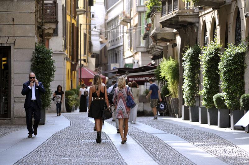 Milánó a Brera környéke