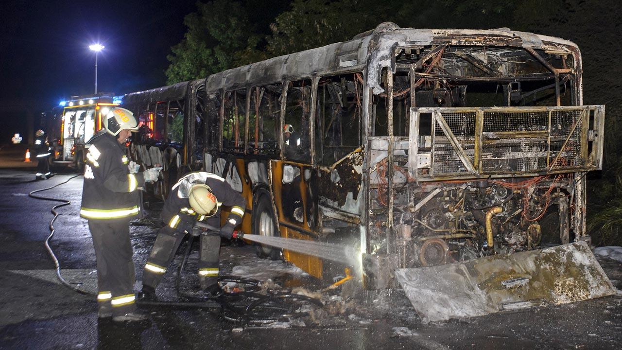 kiégett busz