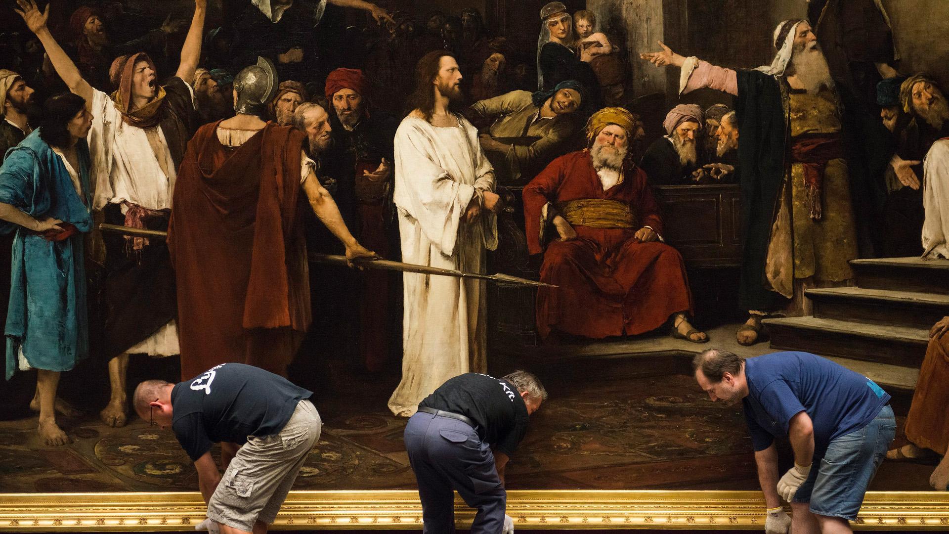 Egy olasz hajléktalan volt Munkácsy Krisztusa