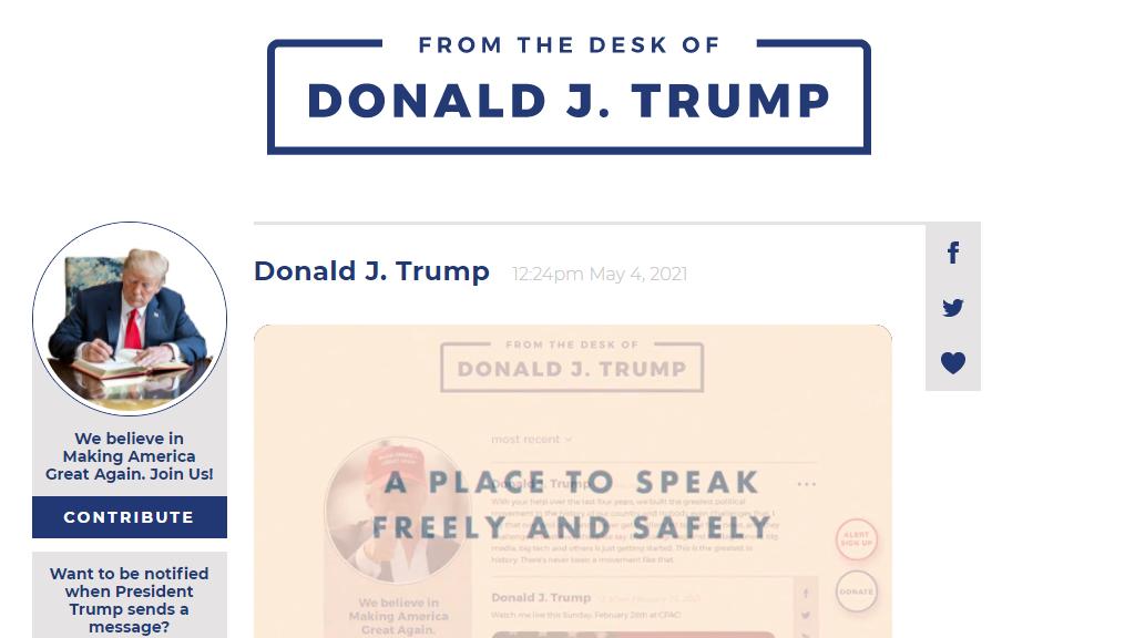 Saját internetes közösségi oldalt indított Donald Trump