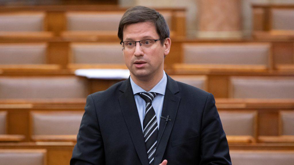 Gulyás Gergely, a Miniszterelnökséget vezető miniszter