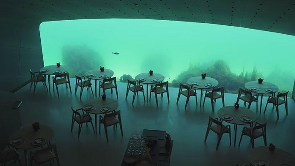 víz alatti étterem