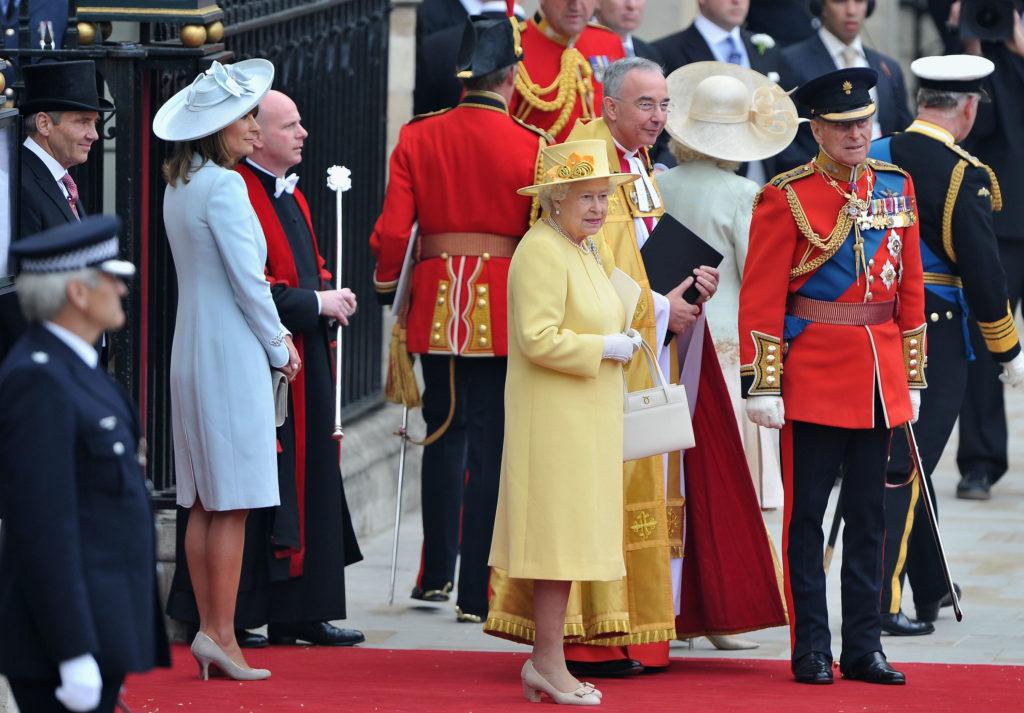 II Erzsébet Vilmos herceg és Kate Middleton esküvőjén