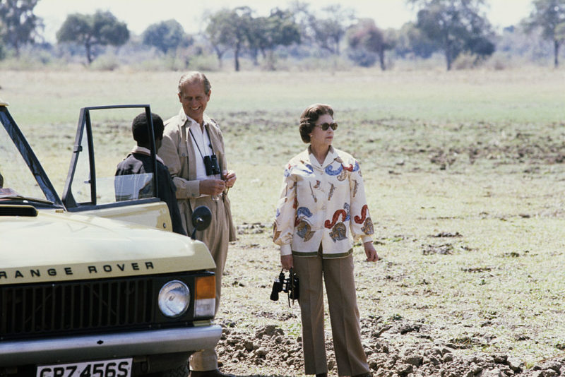 II. Erzsébet és Fülöp herceg 1979-ben, Zambiában