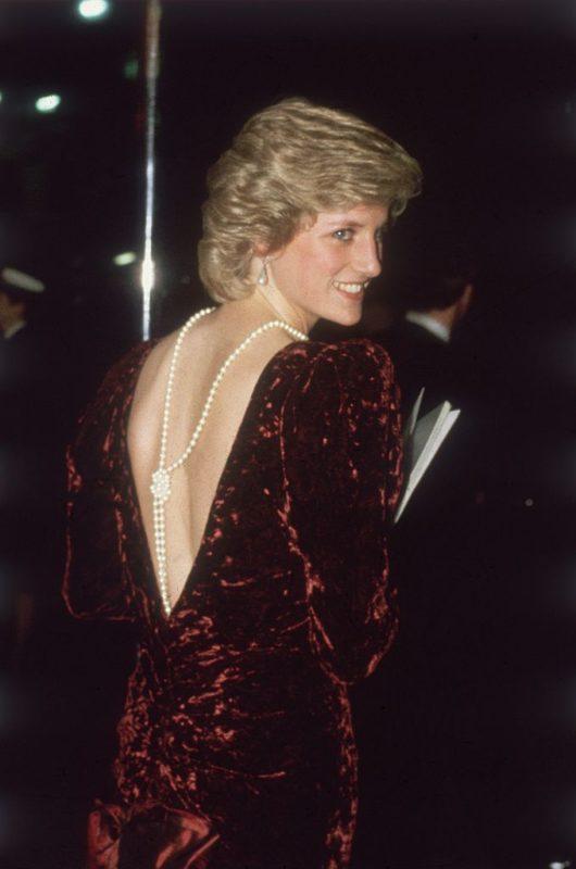 Diana hercegnő a Vissza a jövőbe premierjén