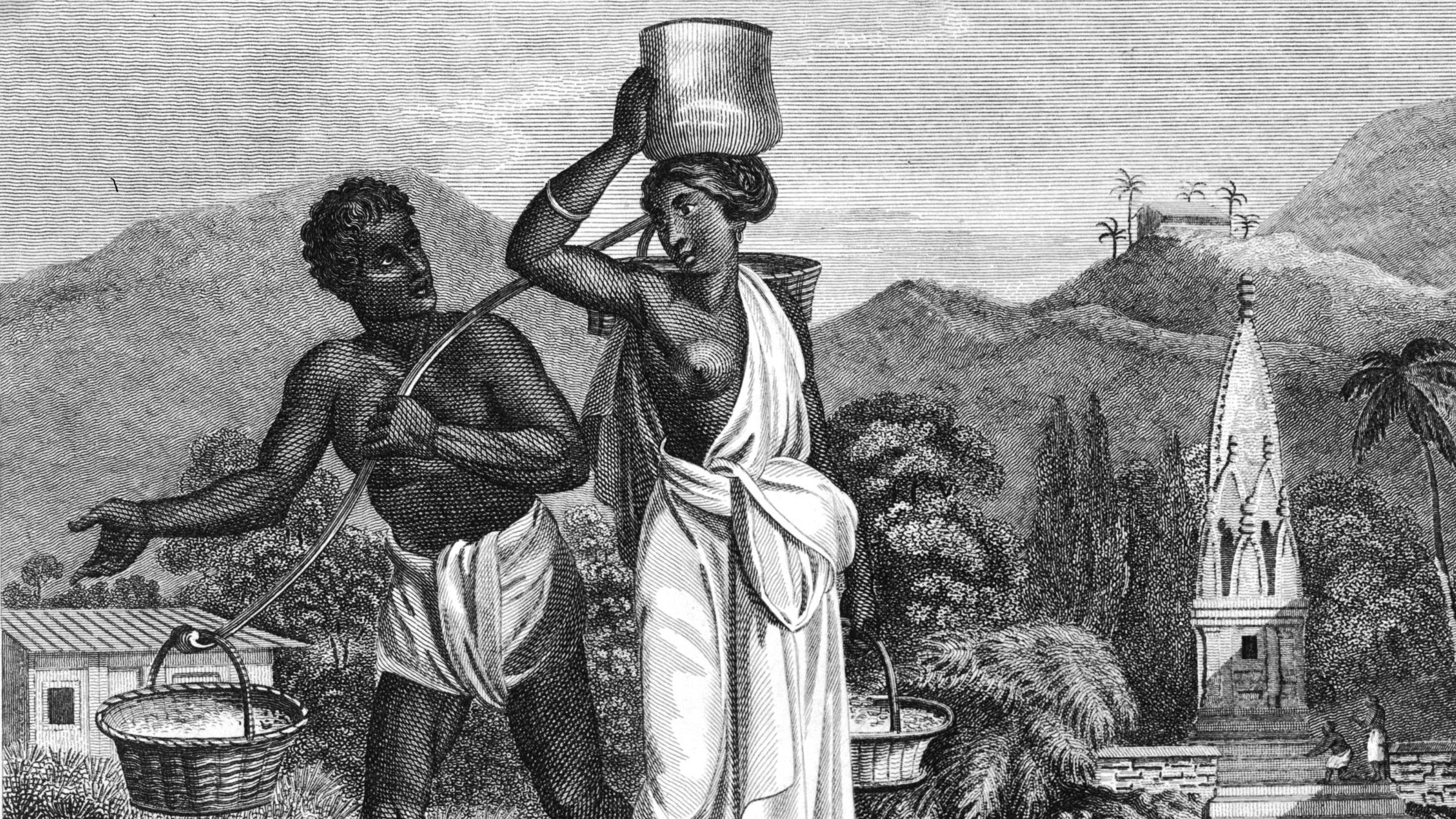 Az alacsonyabb kasztokba tartozó nők fedetlen mellekkel jártak