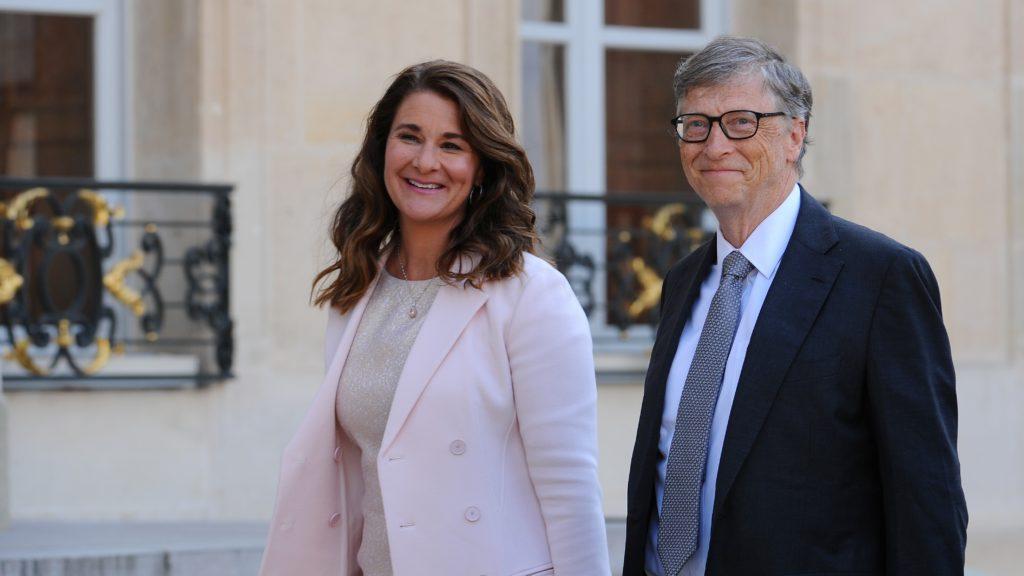 Melinda és Bill Gates 2017 áprilisában Párizsban.