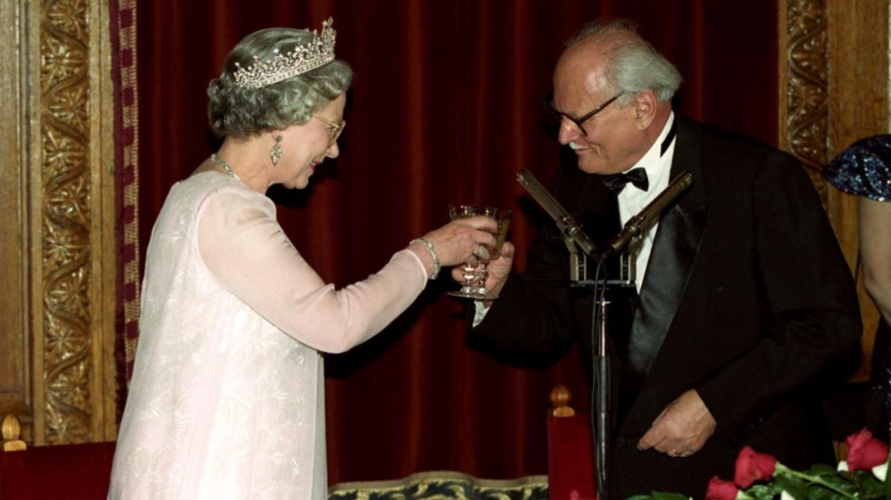 II. Erzsébet és Göncz Árpád