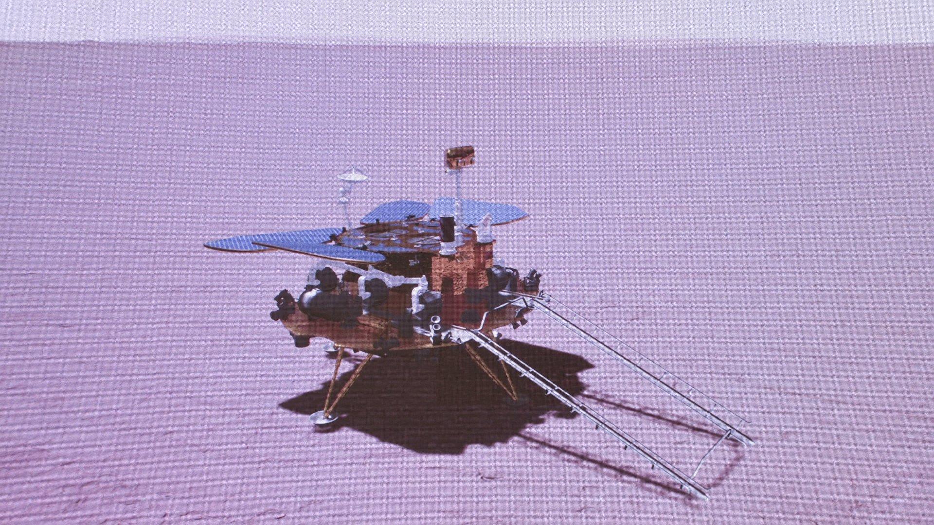 Sikeresen leszállt a Marson az első kínai űrszonda