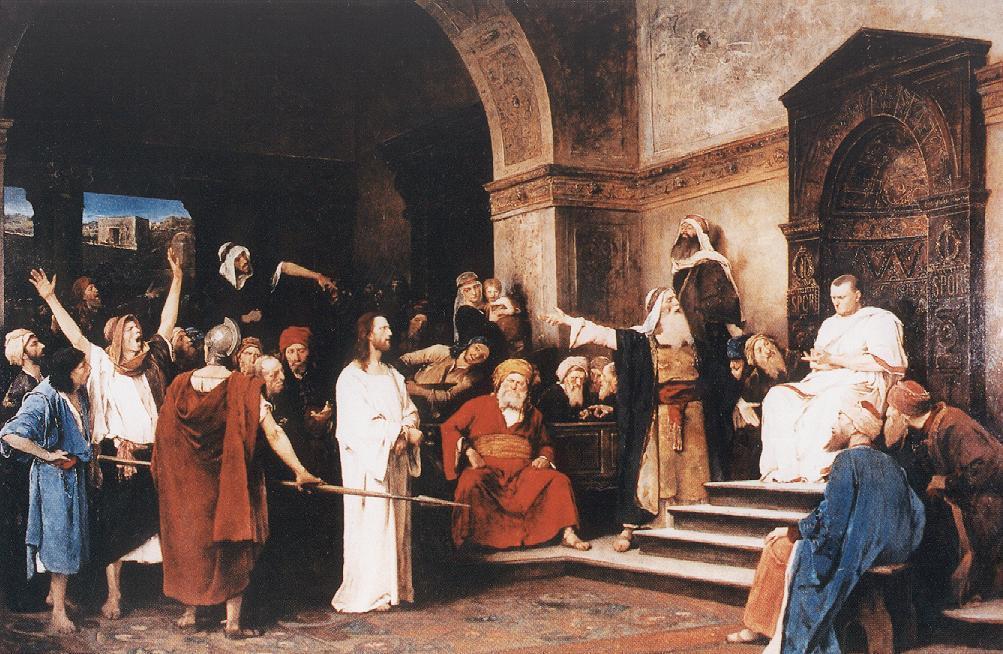 Munkácsy Mihály: Krisztus Pilátus előtt (forrás: mnb.hu)