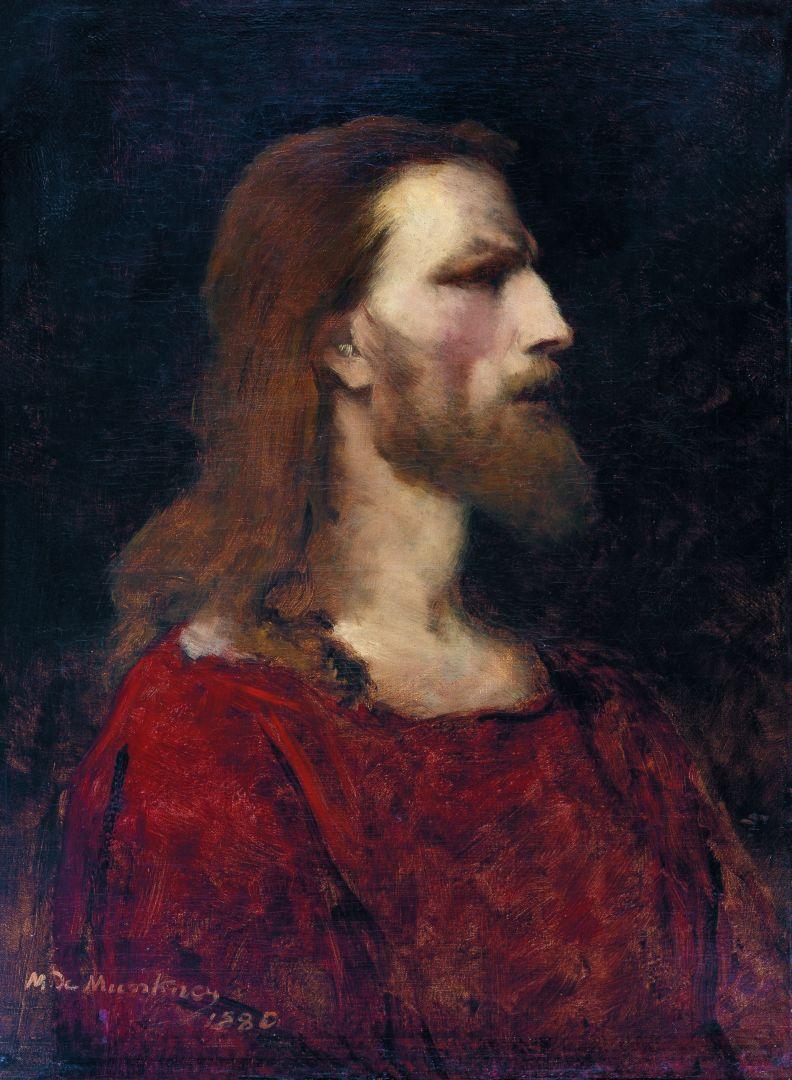 Krisztus-mellkép - Tanulmány a Jézus Pilátus előtt c. festményhez (forrás: Wikipedia)