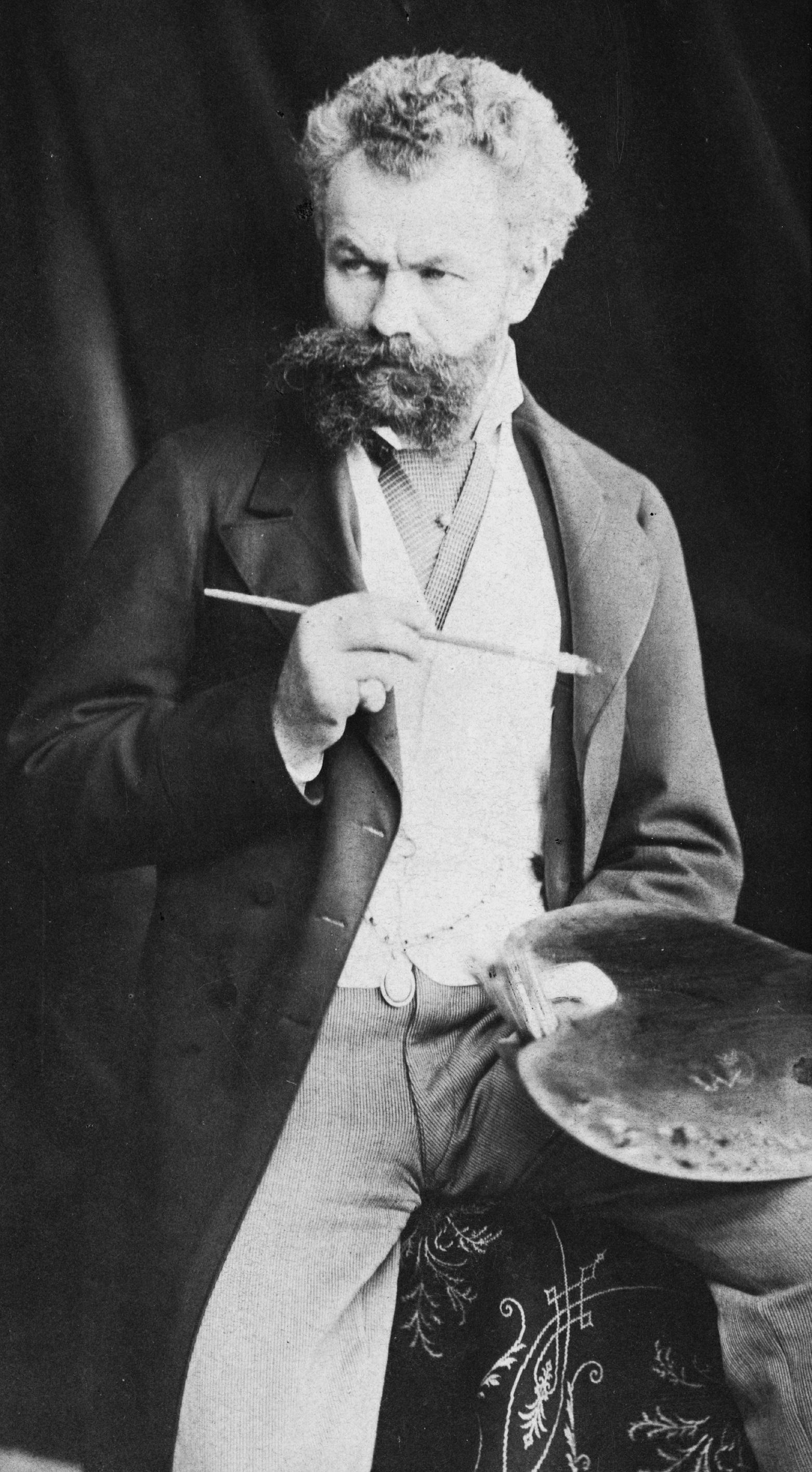 Munkácsy 1880 körül (fotó: Wikipedia)
