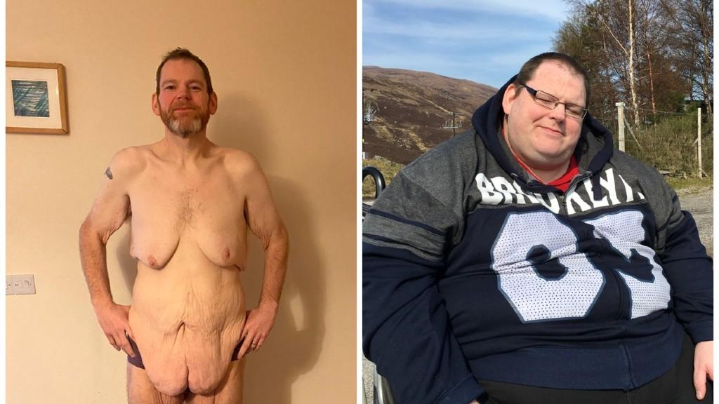 Paul Tuthill a fogyás után és előtt (fotó: Profimédia)