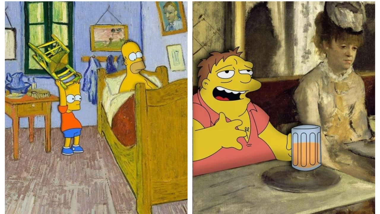 Felugrottak a Simpsonok a világ leghíresebb festményeire