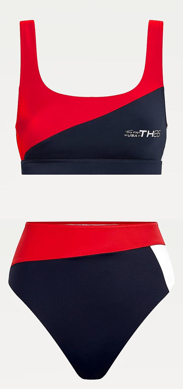 Tommy Hilfiger magas derekú alsóval kombinált bikini