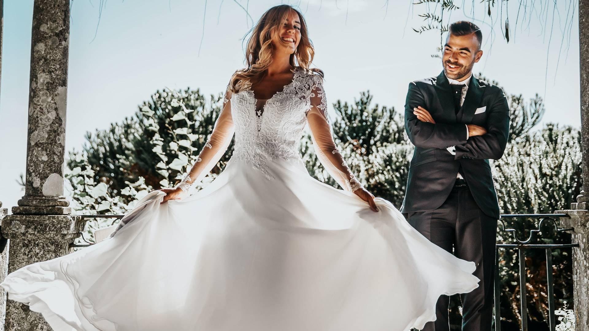 boldog menyasszony és vőlegény