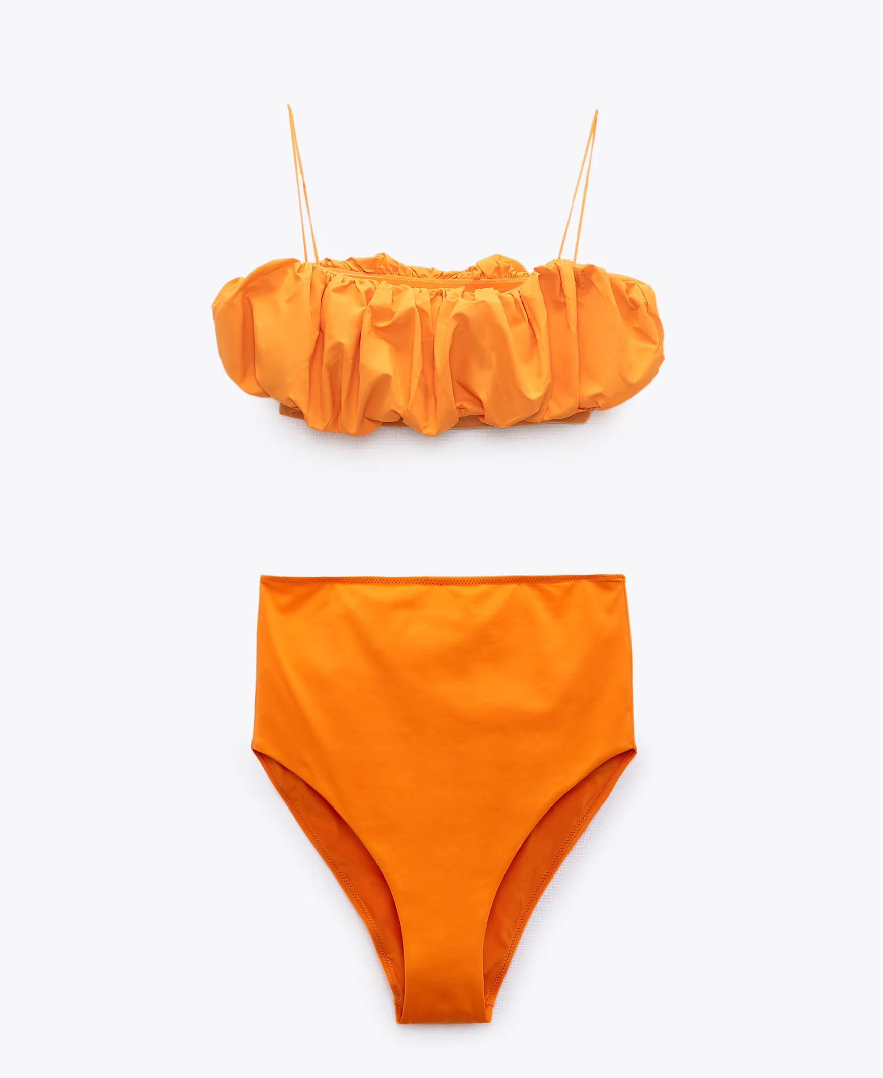 Zara magasderekú alsóval kombinált bikini